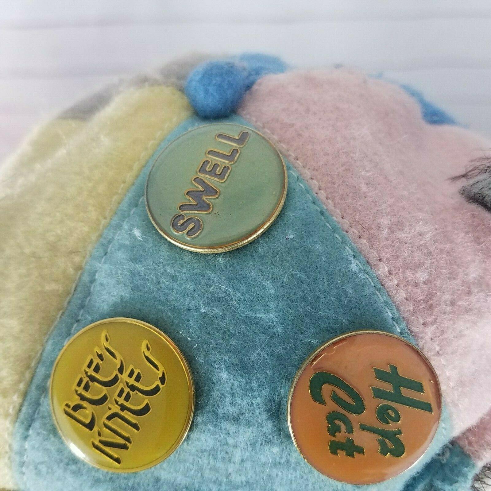 Robert Raikes Reginald 83589 Bear V Neck Sweater Bow Wood Face Paws 1986 RARE