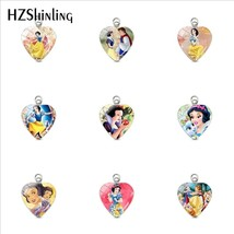 2019 New Snow White Princess Fairy Tale Heart Stainless Steel Pendants S... - $7.54