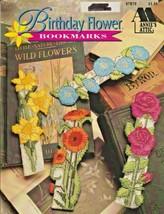 "Annie's Attic ""Birthday Flower Bookmarks"" Plastic Canvas - Gently Used - $7.00"