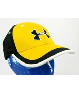 Under Armour Authentic Heat Gear Black Yellow Baseball Hat Cap YOUTH Box... - $15.99