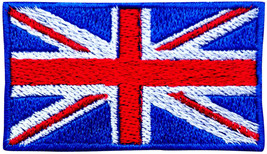 UK Flag Embroidered  Iron On Patch Sew On Jeans Applique Jacket Fancy Ha... - $2.83