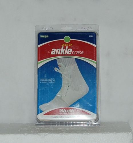 Mueller Sport Care 218LG Large Lace Up Ankle Brace White Moderate Support