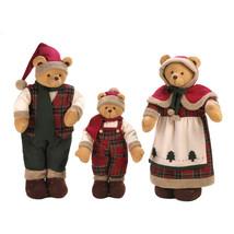 *15332-B  Festive Holiday Santa Bear Family Stuffed Plush - $45.05