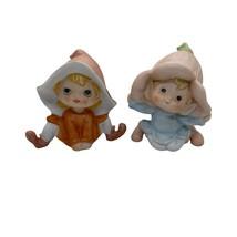 HOMCO Pixie Elf Flower Child Fairy Bisque Porcelain Figurine #5615  and ... - $14.99