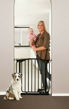 "42""-46"" Black Auto-Close Adjustable Child, Baby & Pet Safety Gate - $128.99"