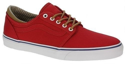 Vans Trig (Trim) Red/White Men's Authentic Classic Skate Shoes SIZE 11