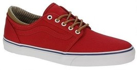 Vans Trig (Trim) Red/White Men's Authentic Classic Skate Shoes SIZE 11 - $49.99
