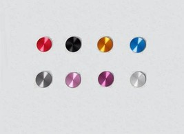 Pure Colour Aluminum Metal Home Button Sticker For Apple iPod iPhone 5S iPad Air - $15.99