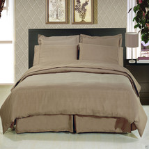 8pc Luxury Super Soft Taupe Bedding w/Microfiber Sheets Duvet Cover & Co... - $118.74