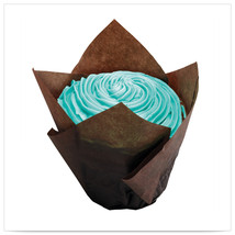 2x1/4  x 2x3/4  x 4  Large Chocolate  Tulip Cupcake Wrapper/Case of 1000 - $139.96