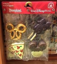 Disney Parks  4 Disney Food Magnets Pizza, Mickey Ice-Cream, Cookie, & P... - $16.79