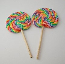 Rainbow Swirl Lollipops Set of 2 Perfect for 18 Inch American Girl Dolls - $9.99