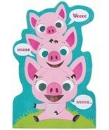American Greetings Hogs And Kisses Mother's Day Card With Foil - $13.47