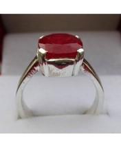 Natural Burman Ruby Ring Yaqoot Ring Silver Ring For Women's islamic Ring - £137.36 GBP