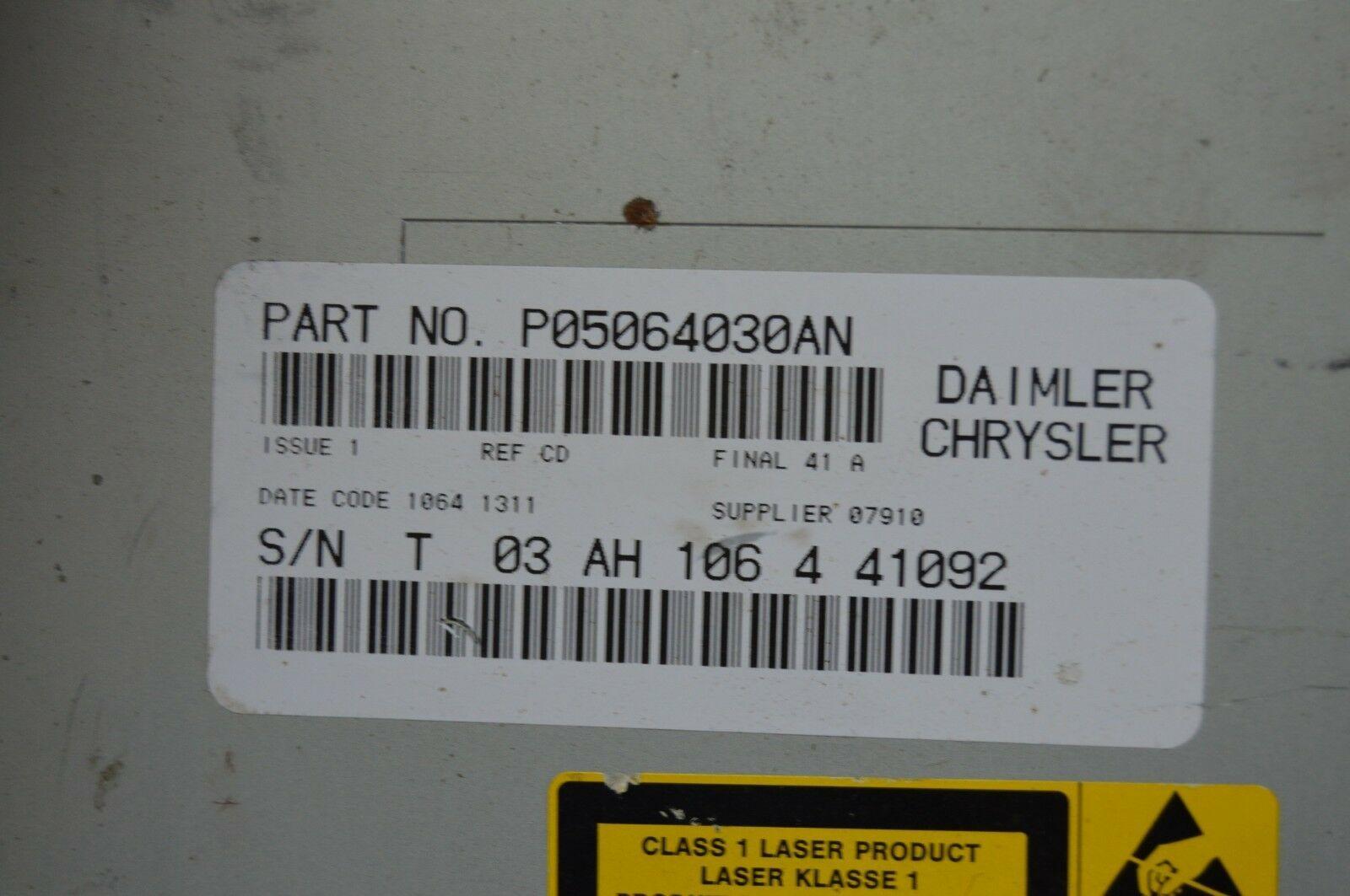 2005-2010 CHRYSLER 300 RADIO CD PLAYER OEM RADIO P05064030AN TESTED H61#030 image 6