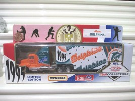 Matchbox Limited Edition 1995 1/80 NFL MIAMI DOLPHINS Truck New in Near ... - $14.80