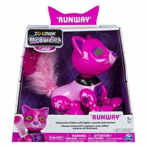 Zoomer Meowzies Runway Interactive Pink Kitten with Lights Sounds and Se... - $57.30