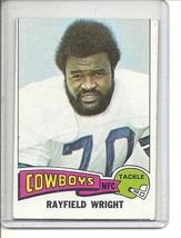 (b-31) 1975 Topps #402: Rayfield Wright - Factory Error off-set cut - $8.50