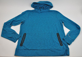 AEO American Eagle ACTIVE FLEX Pullover HOODIE Hooded TEAL Sweatshirt ME... - $24.70