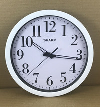"""9"""" SHARP Wall Clock Analog Face White And Black Modern Large Numbers AA Battery - $10.18"""