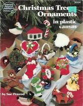 Christmas Tree Ornaments in Plastic Canvas ASN 3054 Wreath Sheep Pineapple - $4.99