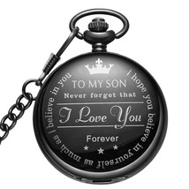 LYMFHCH Black Pocket Watch Personalized Pattern Steampunk Retro Vintage ... - €14,06 EUR