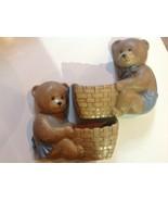 Vintage USA Burwood Products Bear Wall Pockets Nursery - $19.80