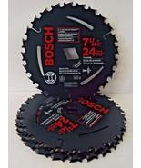 "Bosch WD724B10 7-1/4"" x 24T Circular Saw Blade Arbor Diamond Knockout On... - $37.62"