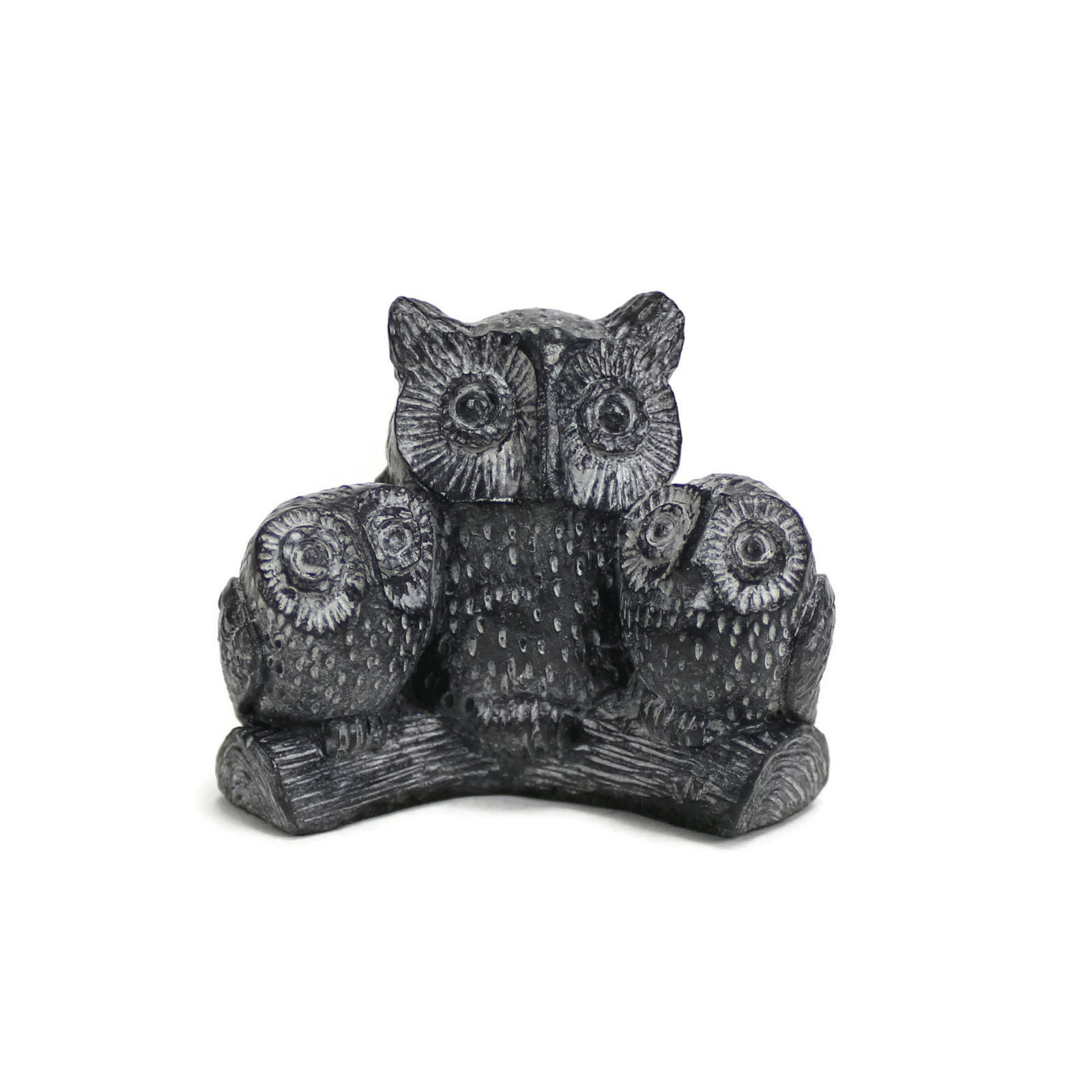 THREE OWLS ON A BRANCH | Mama and Babies | VTG Handmade Wolf Originals | Canada