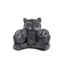 THREE OWLS ON A BRANCH | Mama and Babies | VTG Handmade Wolf Originals |... - $7.87