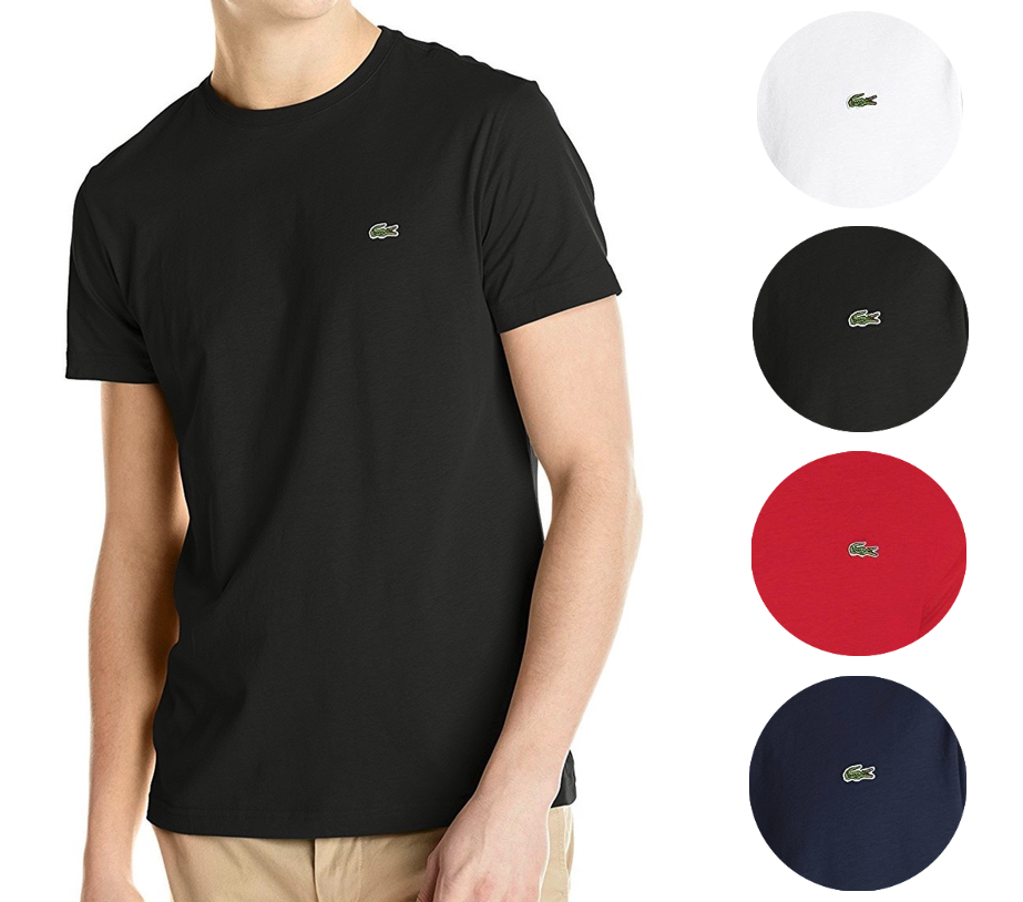 New Lacoste Men's Classic Premium Pima Cotton Crew Neck Sport Shirt T-Shirt