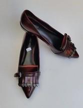 Nine West Shoes Flats Buckle Flap Pointed Toe Burgundy Tessieo Womens Si... - €76,90 EUR