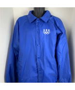 USA Olympic Button Up Lined Windbreaker Jacket XL - $29.70