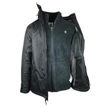 TIMBERLAND A1COI-001 MT.CRESCENT MEN'S BLACK 3 IN 1 WATERPROOF JACKET SZ L. - $127.49