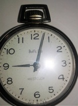Westclock Bulls Eye Pocket Watch in running condition. Winds and keeps p... - $22.99