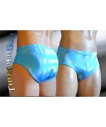 Turquoise Reflective Hologram Nylon Spandex Swim, Dance, Costume Briefs ... - $25.00