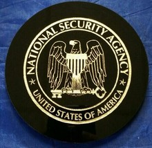"NSA National Security Agency 5"" Black Acrylic Disk w Gold Painted Logo &... - $39.59"