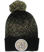 New Orleans NO Patch Cuff Knit Pom Beanie Winter Hat - $12.75