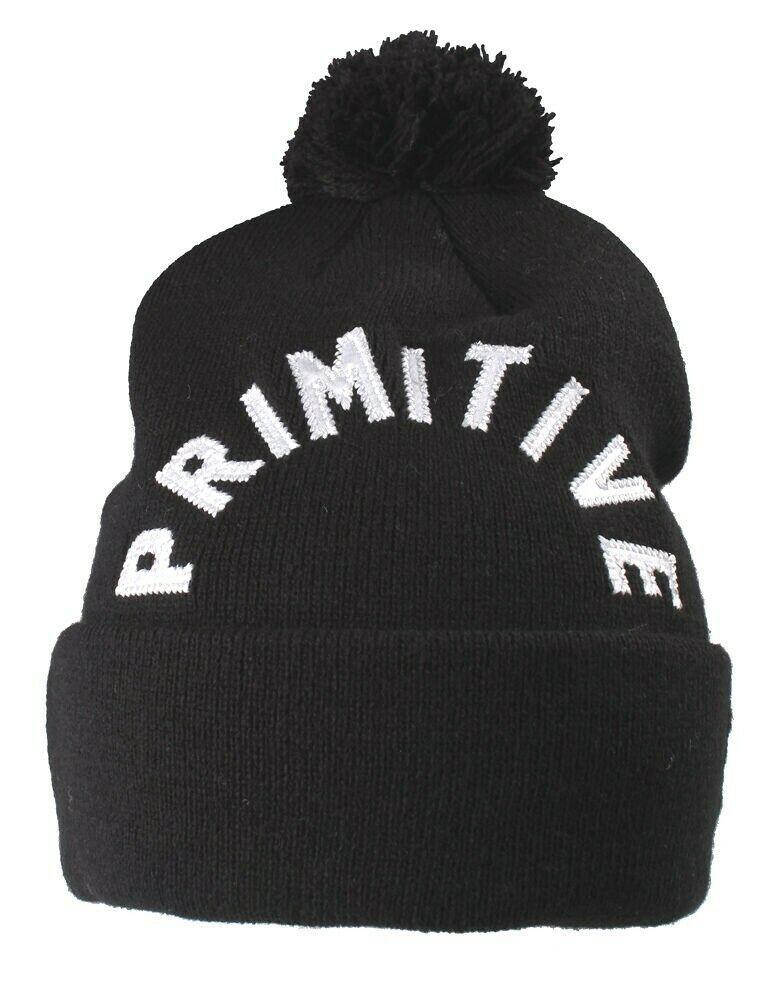 Primitive NEW ERA Nero Bianco Ricamato Arc Pompon Inverno Skate Cappello Nwt