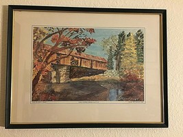 Long Covered Bridge by Dwight D. Eisenhower/© 1968, Eisenhower College P... - $29.45