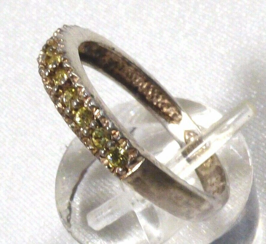 AVON STERLING SILVER 925 PERIDOT BAND RING SIZE 7.5 image 5