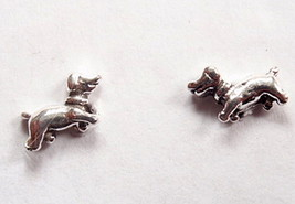 Dog Stud Earrings 925 Sterling Silver Corona Sun Jewelry puppie perro po... - $4.94