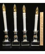 Candles Flameless Battery Operated Set 4 Centerpiece Slight Height Diffe... - $32.66