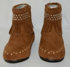 I Love Yo Kids AVA 78K Girls Fringe Boot Rust Silver Studded Size 13 image 2