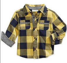First Impressions Baby Boys' Plaid Shirt, Yellow Sun, Size 24 Months - $12.86