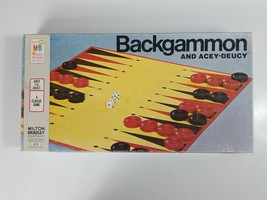 Vintage Backgammon and Acey-Deucy (1973 Milton Bradley) Board Game - $18.69
