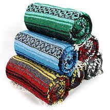 #11 Real Mexico Rug Falsa Yoga Beach Blanket Throw Wholesale Sarape Afgh... - $17.87 CAD