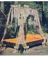 Vintage Macrame Bed Pattern - Digital download in PDF format - Furniture - $3.50