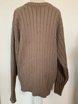 J. Crew Men's Cotton Cable Knit Sweater Size L Carmel Brown - $22.30