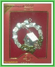 "Lenox  Christmas Wreath Ornament ""Bless This Home""  New in Box - $29.69"
